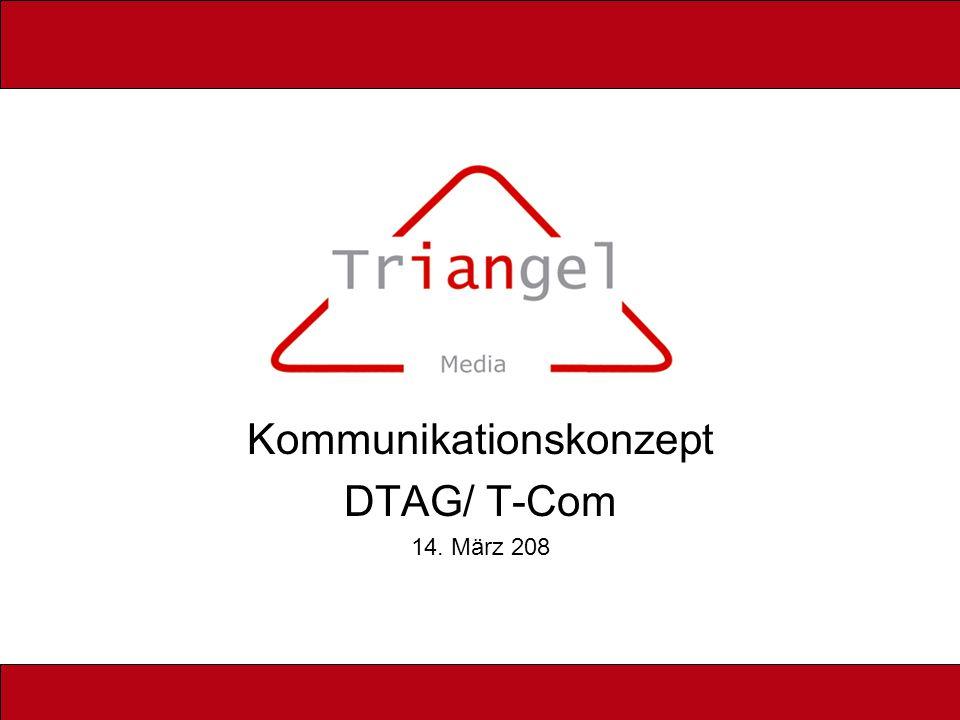 Kommunikationskonzept DTAG/ T-Com 14. März 208
