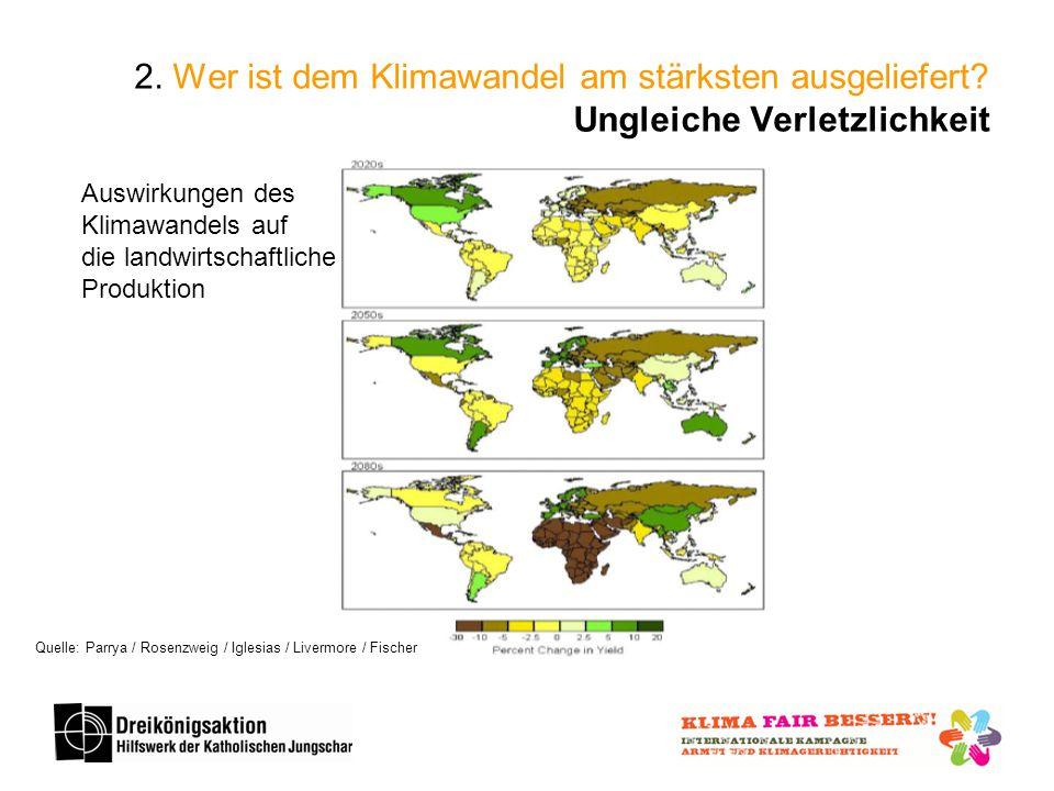 2.Wer ist dem Klimawandel am stärksten ausgeliefert.
