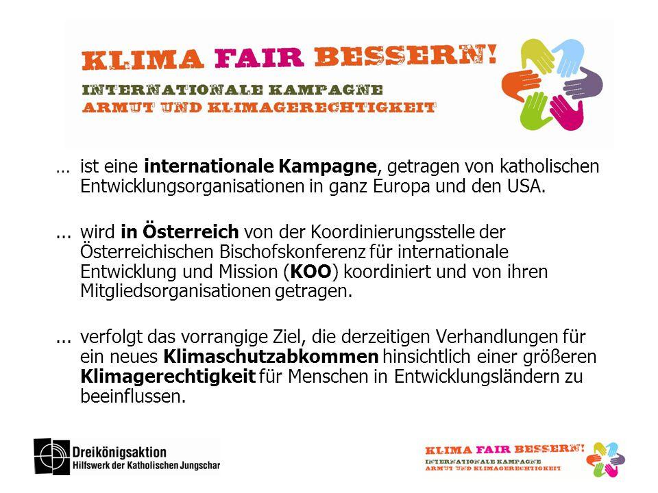 … ist eine internationale Kampagne, getragen von katholischen Entwicklungsorganisationen in ganz Europa und den USA....