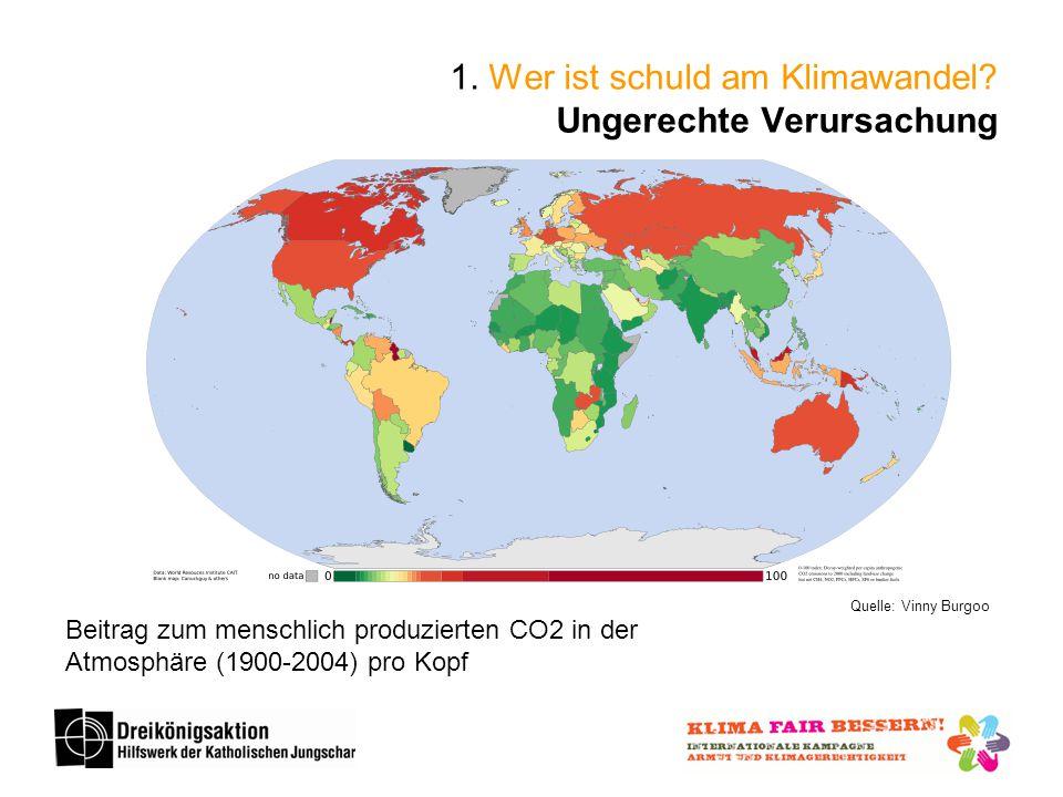 Quelle: Vinny Burgoo Beitrag zum menschlich produzierten CO2 in der Atmosphäre (1900-2004) pro Kopf 1.