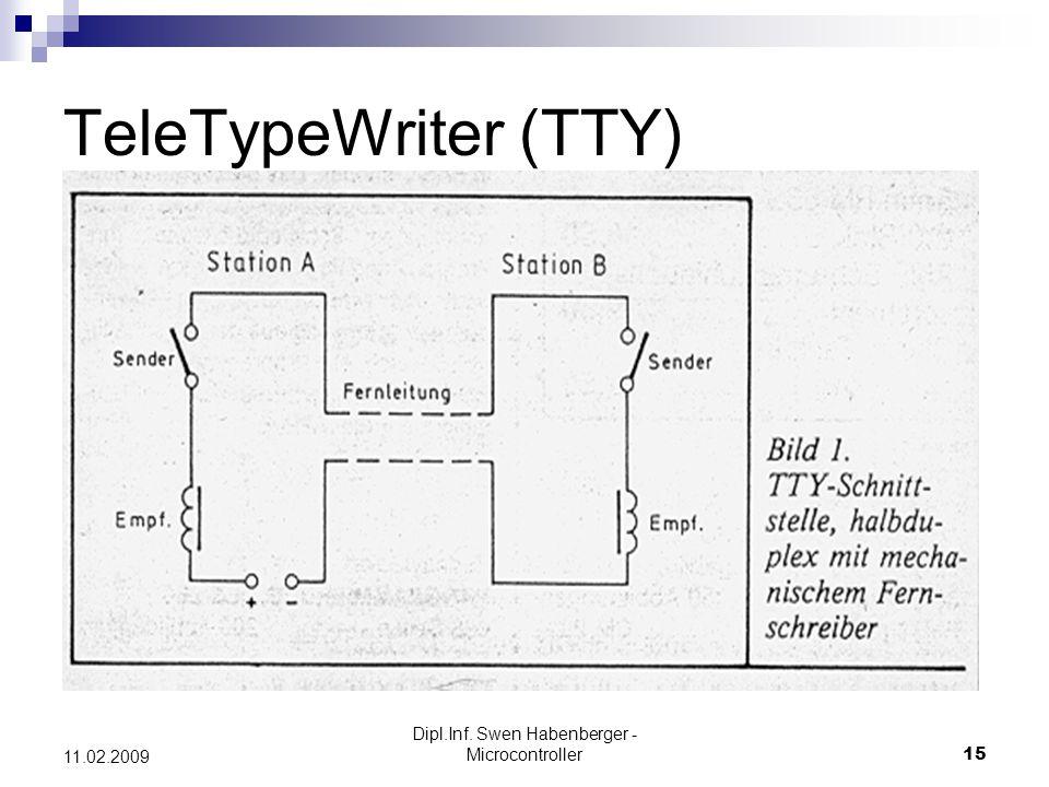 Dipl.Inf. Swen Habenberger - Microcontroller15 11.02.2009 TeleTypeWriter (TTY)