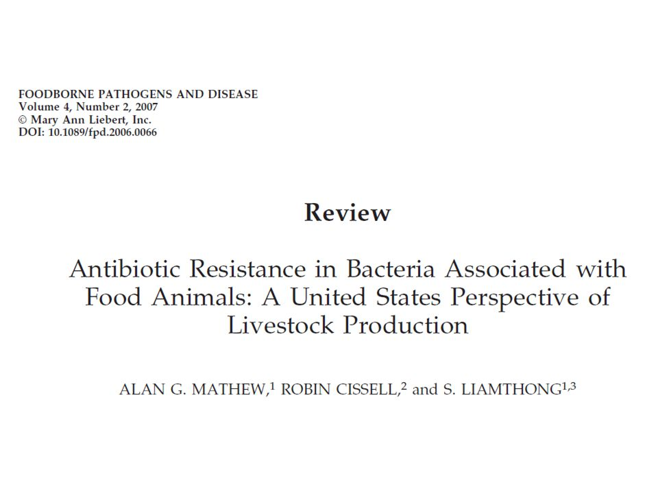 Antibiotics used in food animals for … Therapeutic use to treat sick animals Short-term medication to treat diseased animals and prevent infection in other animals Prophylactic use to prevent infections at times of risk (e.g.