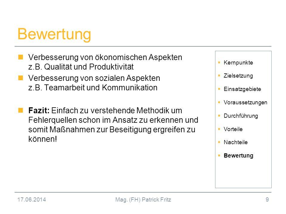 17.06.2014Mag.(FH) Patrick Fritz10 Kontakt Mag.