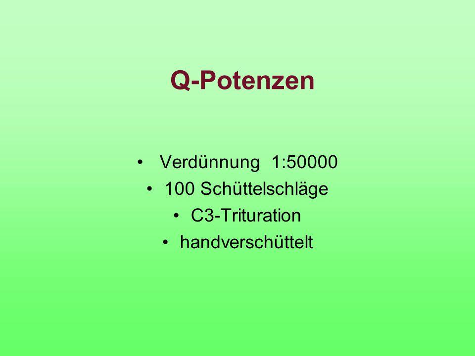 Q-Potenzen Verdünnung 1:50000 100 Schüttelschläge C3-Trituration handverschüttelt