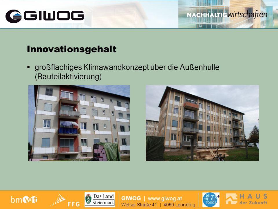 Ausgangslage GIWOG | www.giwog.at Welser Straße 41 | 4060 Leonding Konzept zur Steuerung Fernwartung und Controlling über das Internet Innovationsgehalt