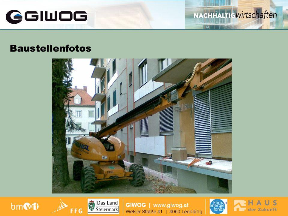 Finanzierung GIWOG | www.giwog.at Welser Straße 41 | 4060 Leonding Baustellenfotos 8.30 Uhr