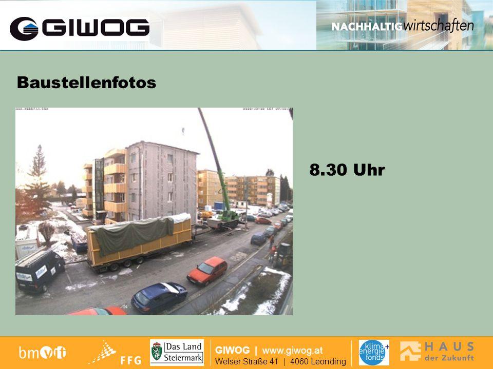 Finanzierung GIWOG | www.giwog.at Welser Straße 41 | 4060 Leonding Baustellenfotos 12.00 Uhr