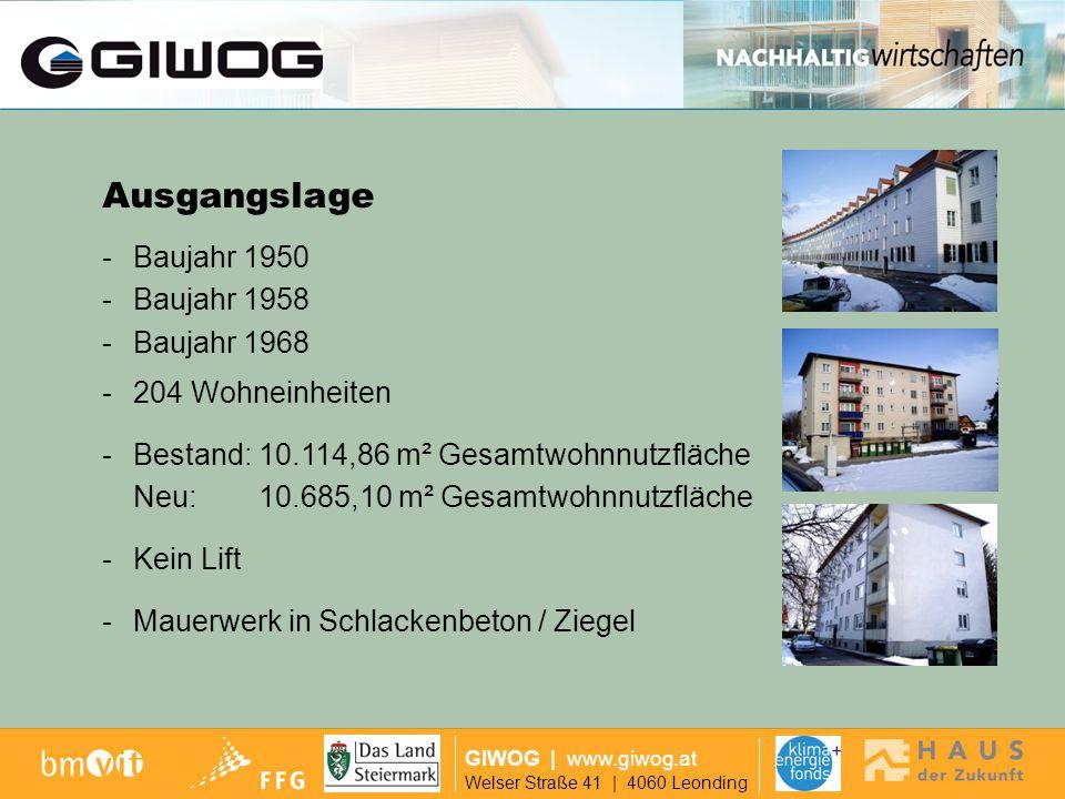 GIWOG | www.giwog.at Welser Straße 41 | 4060 Leonding - Geschoßdecken aus Stahlbeton - Kunststoff-Fenster - Keine Zentralheizung, Einzelöfen ca.