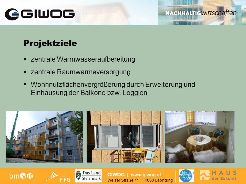 Ausgangslage GIWOG | www.giwog.at Welser Straße 41 | 4060 Leonding vorgesetzte Glaslifte Projektziele