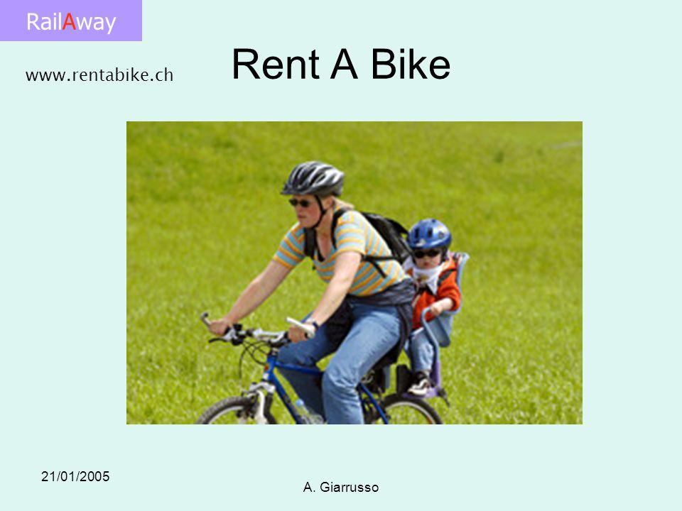RailAway 21/01/2005 A. Giarrusso Rent A Bike www.rentabike.ch