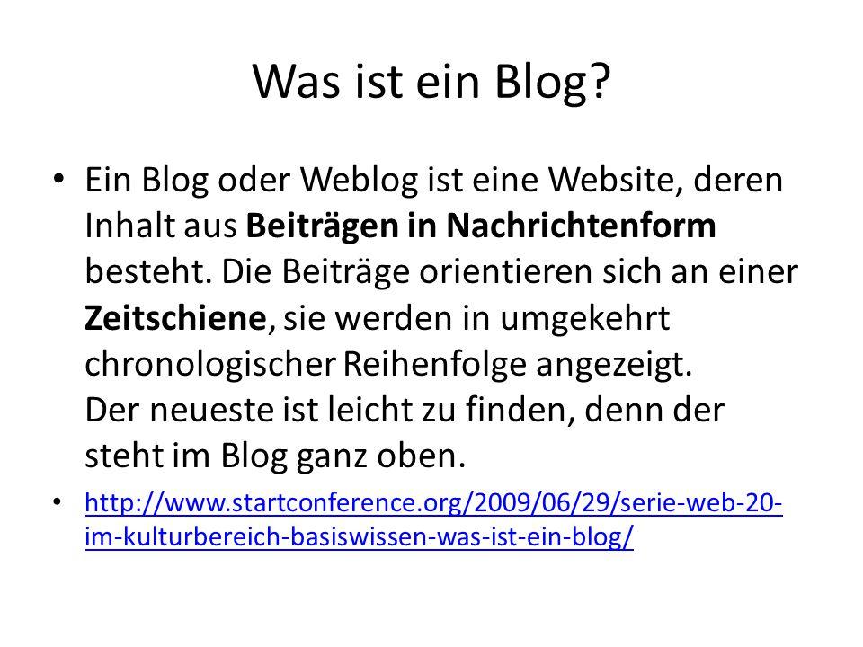 Was ist ein Blog.