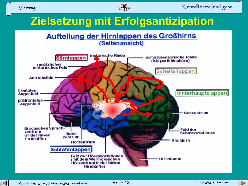 Vortrag Autorin Helga Scholz, Vorsitzende GfG TrainerForum © 2007 GfG-TrainerForum Folie 12 Neugierde und aktives Lernen Wissensvermittlung und Gedäch