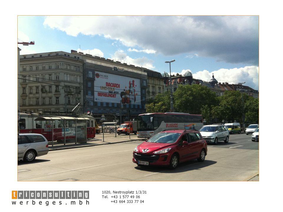 1020, Nestroyplatz 1/3/31 Tel. +43 1 577 49 06 +43 664 333 77 04 Lageplan