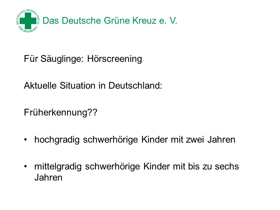 Das Deutsche Grüne Kreuz e.V.