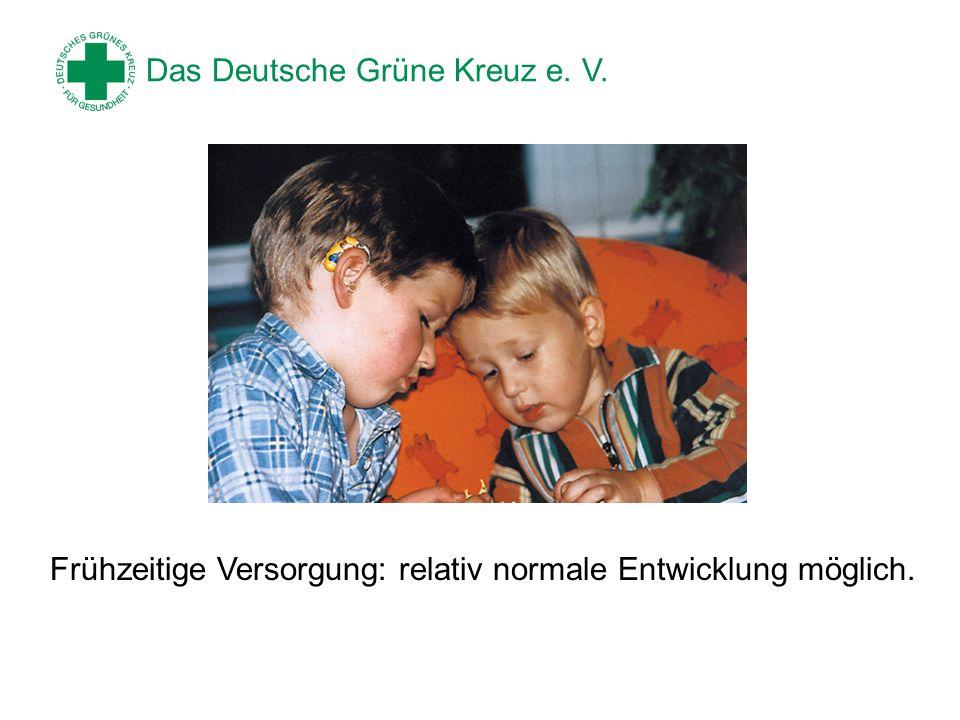 Das Deutsche Grüne Kreuz e.V. Kinder können ihr Defizit nicht selbst erkennen und benennen.