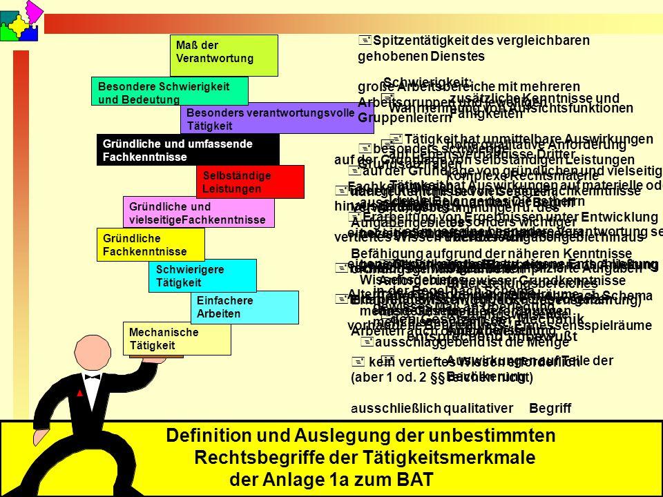 September 2010 © Reiner Holzhausen Definition und Auslegung der unbestimmten Rechtsbegriffe der Tätigkeitsmerkmale der Anlage 1a zum BAT Mechanische T