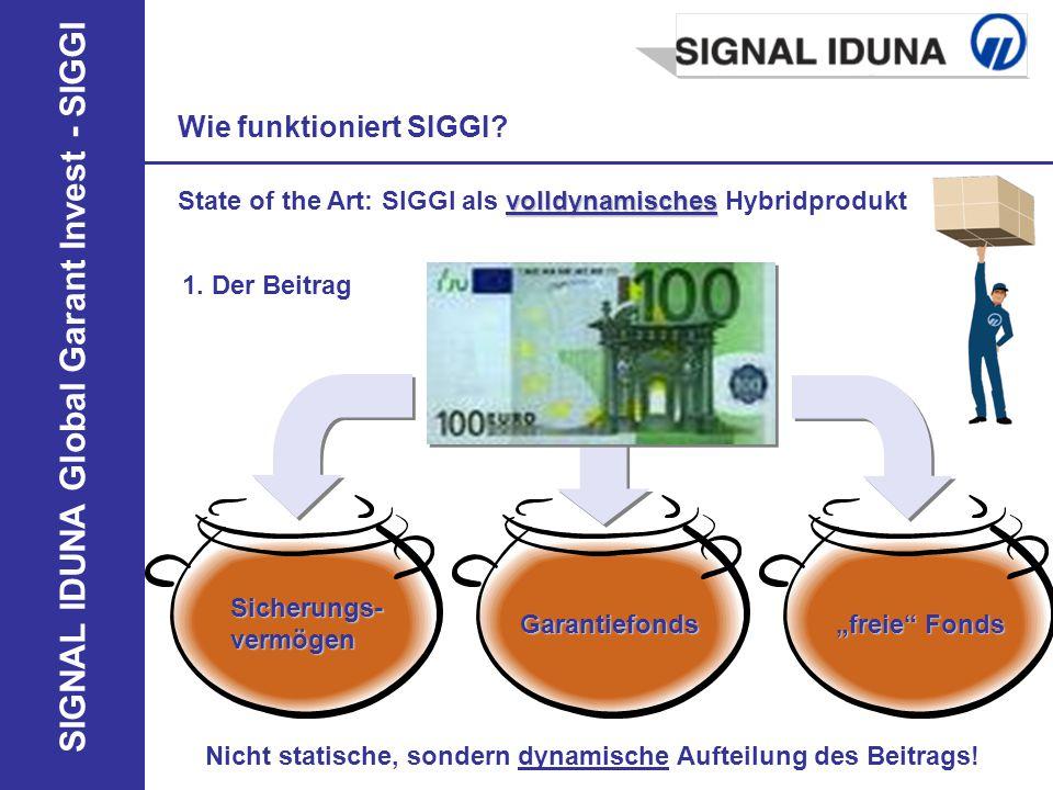 SIGNAL IDUNA Global Garant Invest - SIGGI Wie funktioniert SIGGI? volldynamisches State of the Art: SIGGI als volldynamisches Hybridprodukt 1. Der Bei