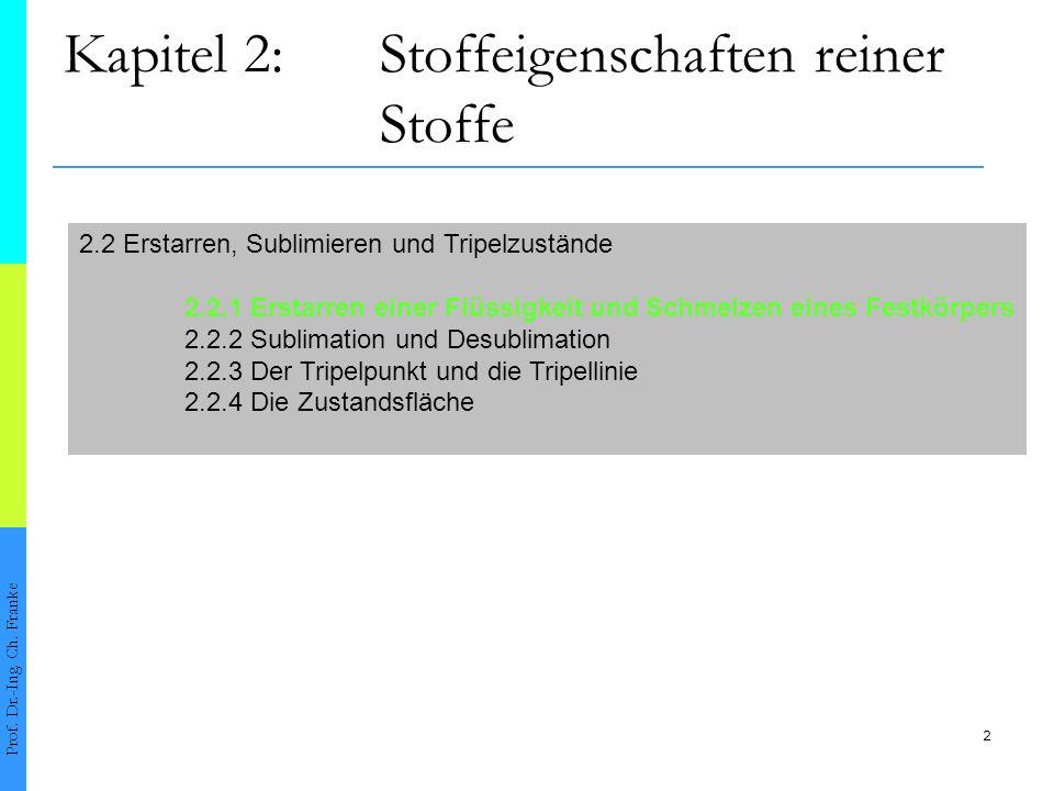 3 2.2.1Erstarren einer Flüssigkeit und Schmelzen eines Festkörpers Prof.