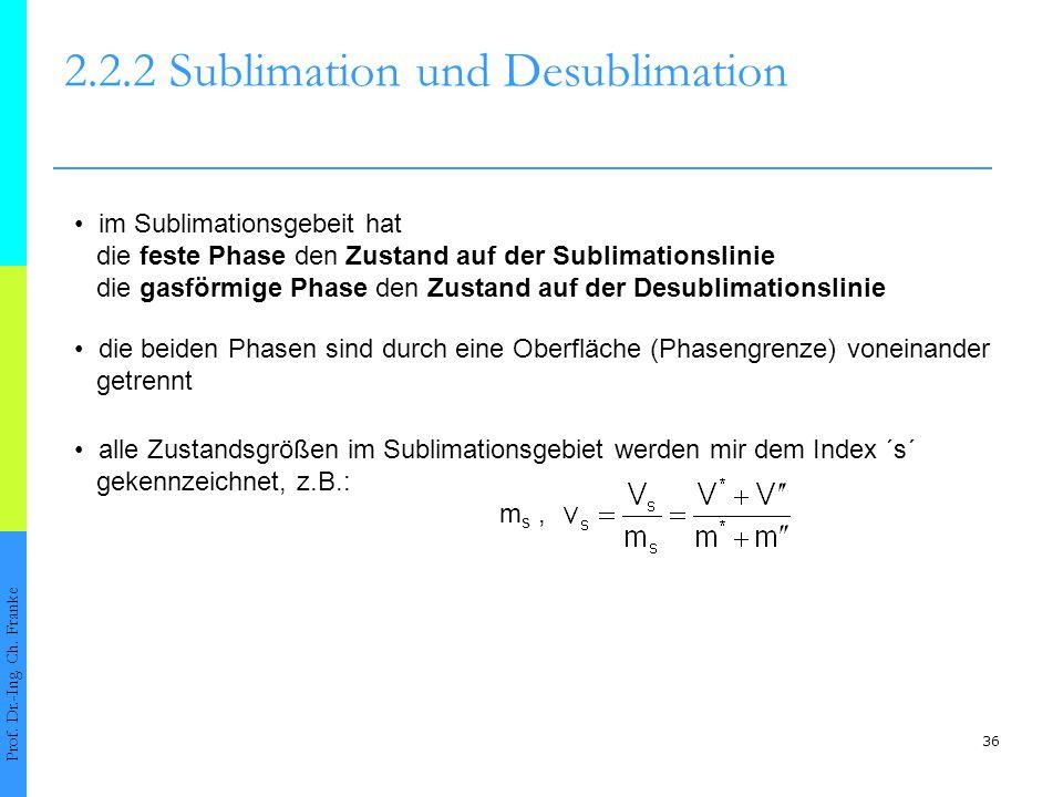 37 2.2.2 Sublimation und Desublimation Prof.Dr.-Ing.
