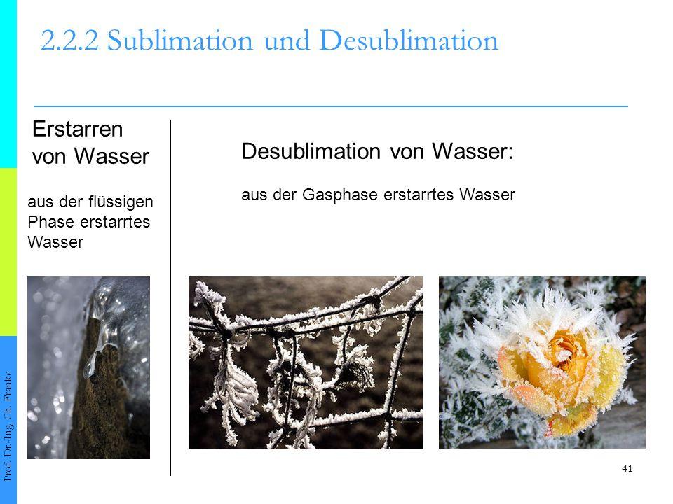 42 2.2.2 Sublimation und Desublimation Prof.Dr.-Ing.