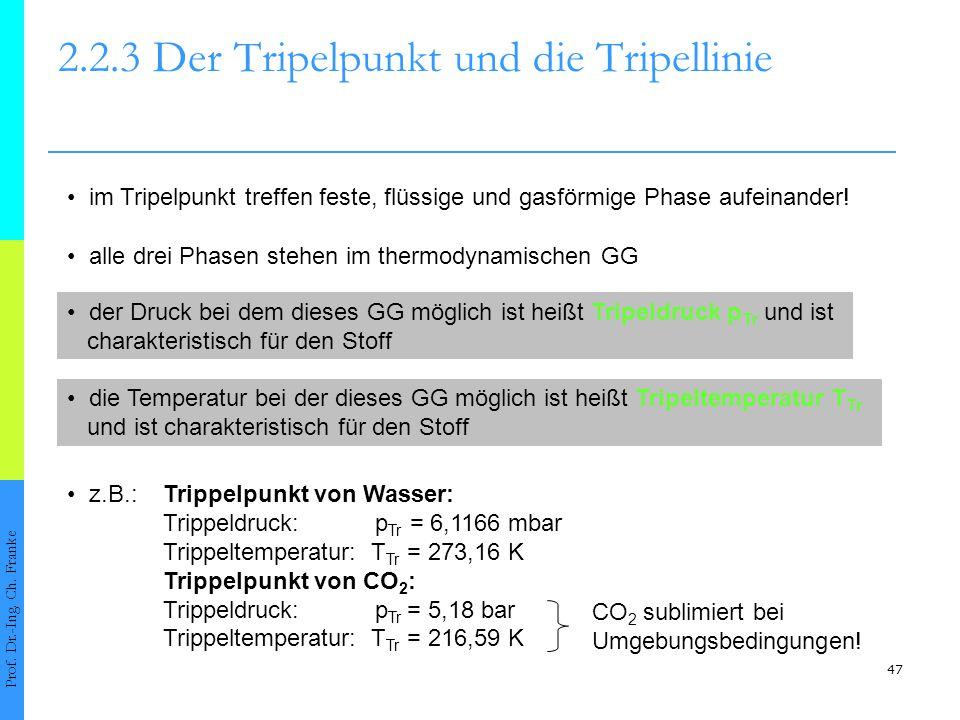 48 2.2.3 Der Tripelpunkt und die Tripellinie Prof.
