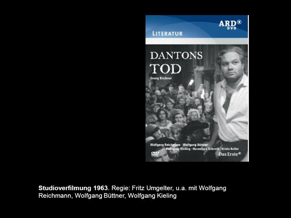 84 Studioverfilmung 1963. Regie: Fritz Umgelter, u.a. mit Wolfgang Reichmann, Wolfgang Büttner, Wolfgang Kieling