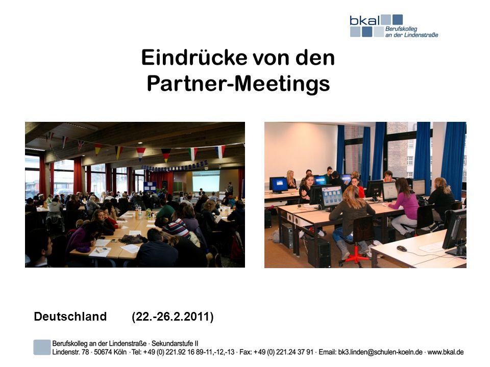 Eindrücke von den Partner-Meetings Deutschland (22.-26.2.2011)