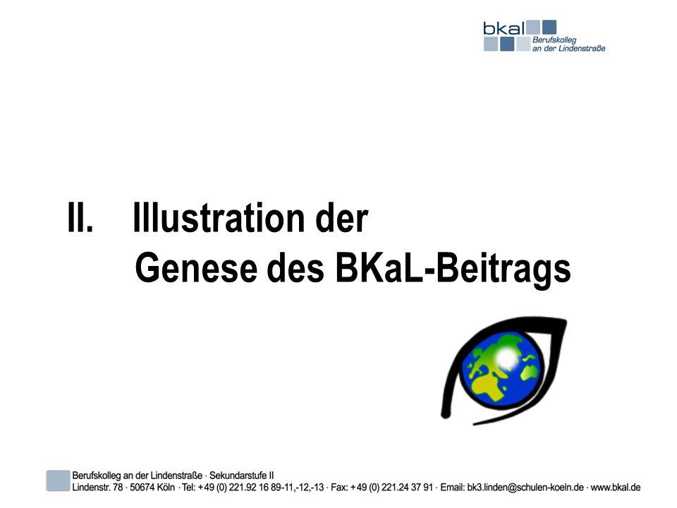 II. Illustration der Genese des BKaL-Beitrags