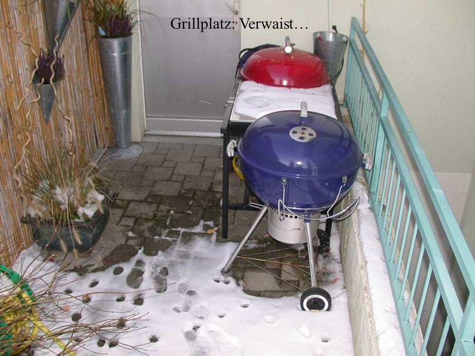 Grillplatz: Verwaist…