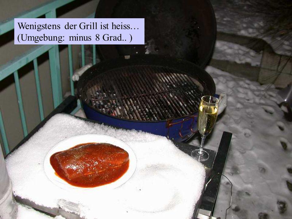 Wenigstens der Grill ist heiss… (Umgebung: minus 8 Grad.. )