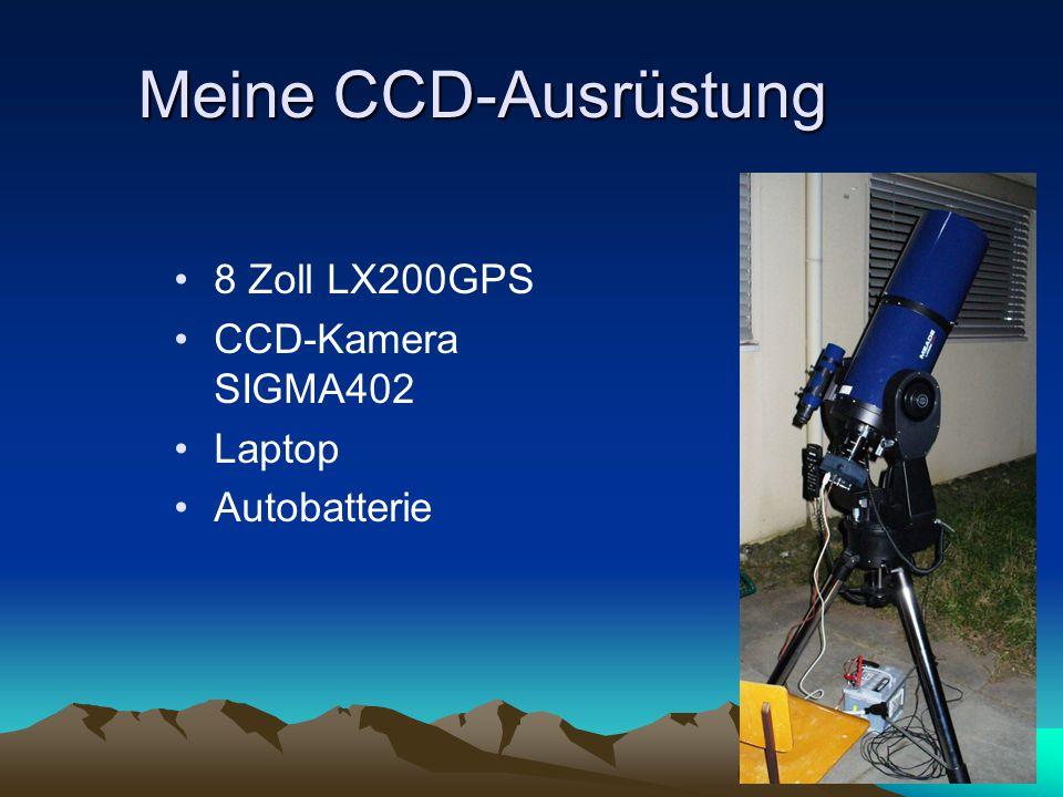 Meine CCD-Ausrüstung 8 Zoll LX200GPS CCD-Kamera SIGMA402 Laptop Autobatterie