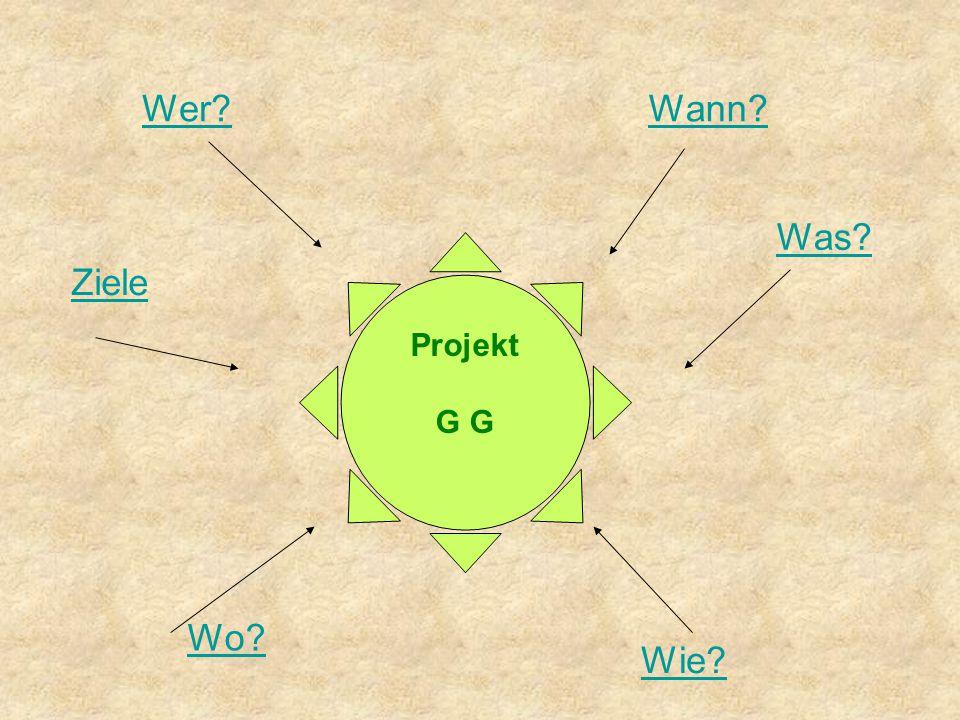 Wer Wann Wo Was Wie Ziele Projekt G