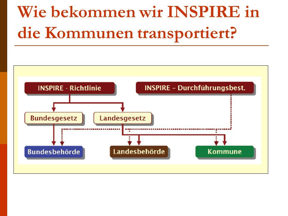 Wie bekommen wir INSPIRE in die Kommunen transportiert?