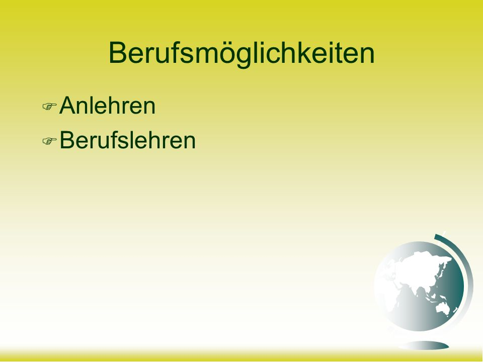 Sekundarschule Kurzzeitgymnasium (ab 2.oder 3. Sekundarklasse) Untergymnasium 1.