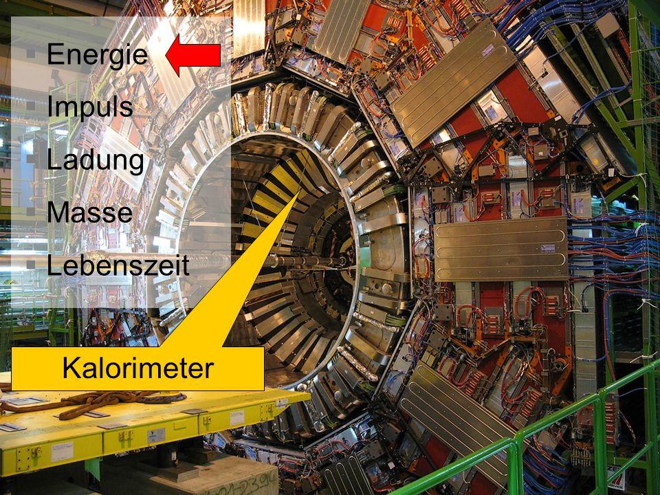 Energie Impuls Ladung Masse Lebenszeit Kalorimeter
