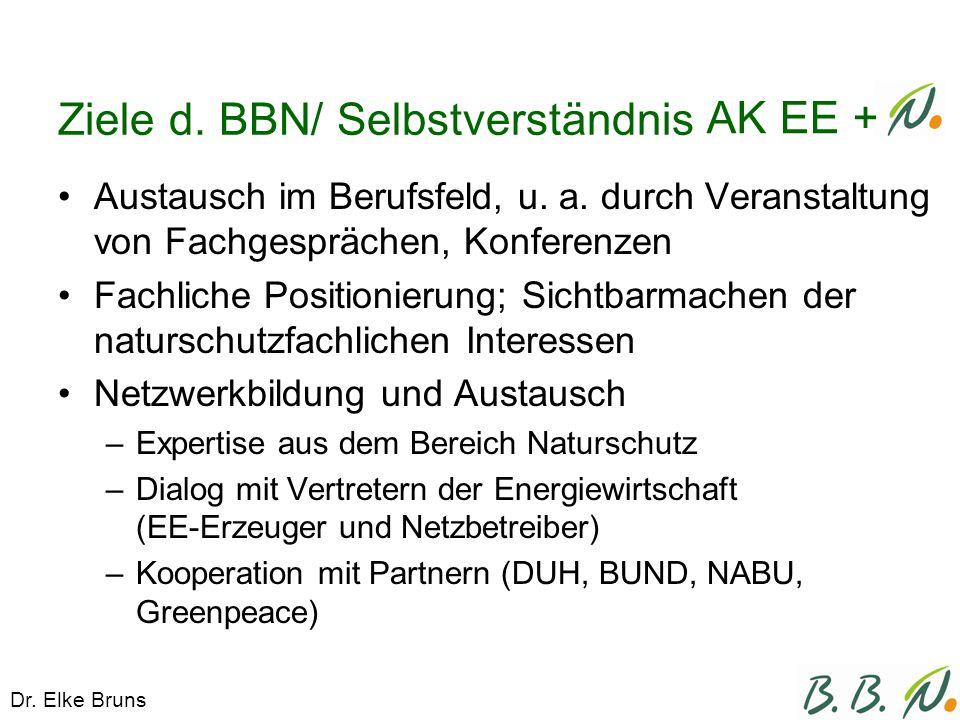 Ziele d. BBN/ Selbstverständnis Austausch im Berufsfeld, u.