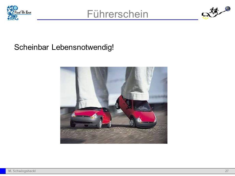27M. Schwingshackl Führerschein Scheinbar Lebensnotwendig!