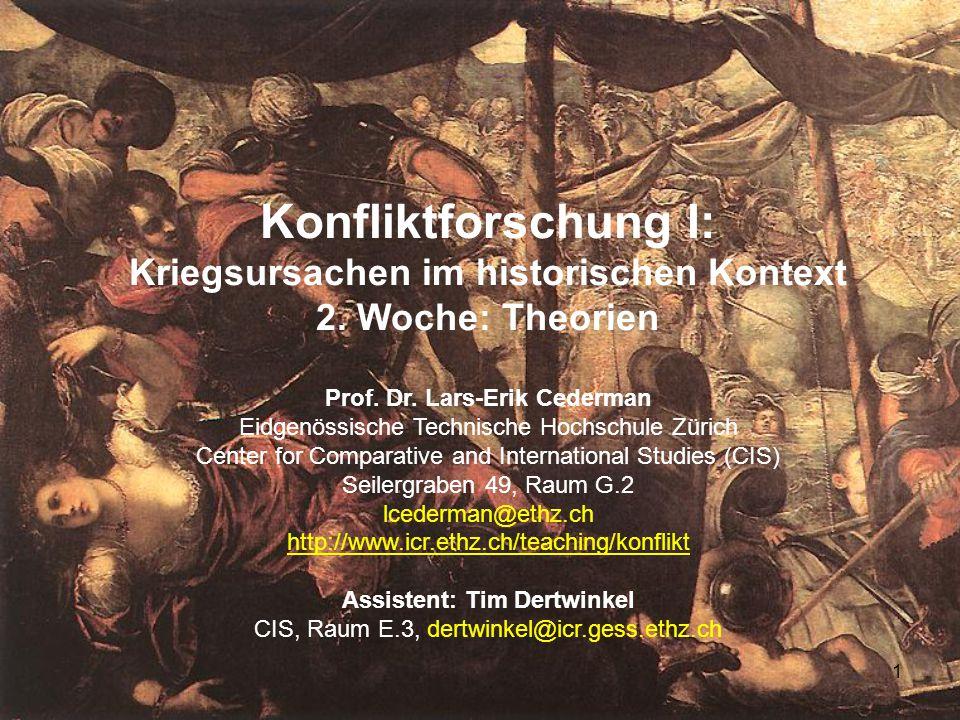 1 Konfliktforschung I: Kriegsursachen im historischen Kontext 2.