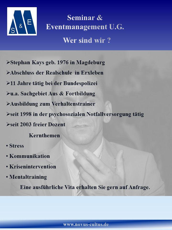 Stephan Kays geb. 1976 in Magdeburg Abschluss der Realschule in Erxleben 11 Jahre tätig bei der Bundespolizei u.a. Sachgebiet Aus & Fortbildung Ausbil