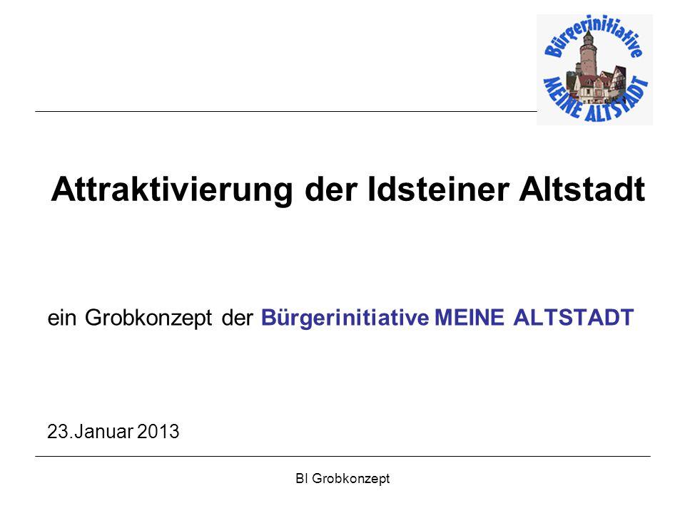 BI Grobkonzept Attraktivierung der Idsteiner Altstadt ein Grobkonzept der Bürgerinitiative MEINE ALTSTADT 23.Januar 2013