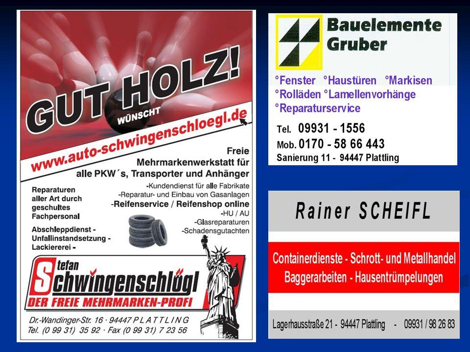 SV Zuchering -SKC 1 30Mannel Wolfgang898 -14 868Sterner Alois-30 -16Dumicic Dragoljub922938Ramsauer Erich16 -23Fuhrmann Thomas872 85 895Kagermeier Günther23 -62Bleier Thomas876938Huber Michael62 94Lorenz Phillip911 -123 817Vogl Wolfgang-94 29Lösel Christian946917Rohrmeier Andreas-29 52 5425:5373 -52 SV Zuchering Tabellenplatz: 3 Punkte Ges.: 14 – 6 Schnitt ausw.: 5375 Punkte ausw.: 4 – 4 Punkte Bester Spieler: Christian Lösel - Ges.