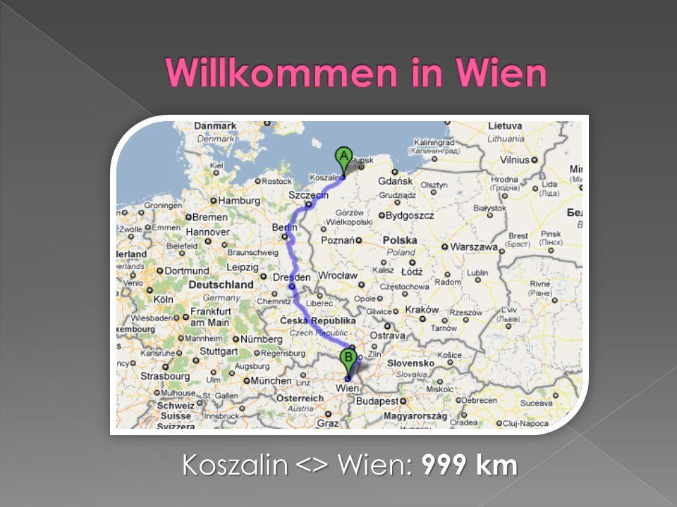 Koszalin <> Wien: 999 km