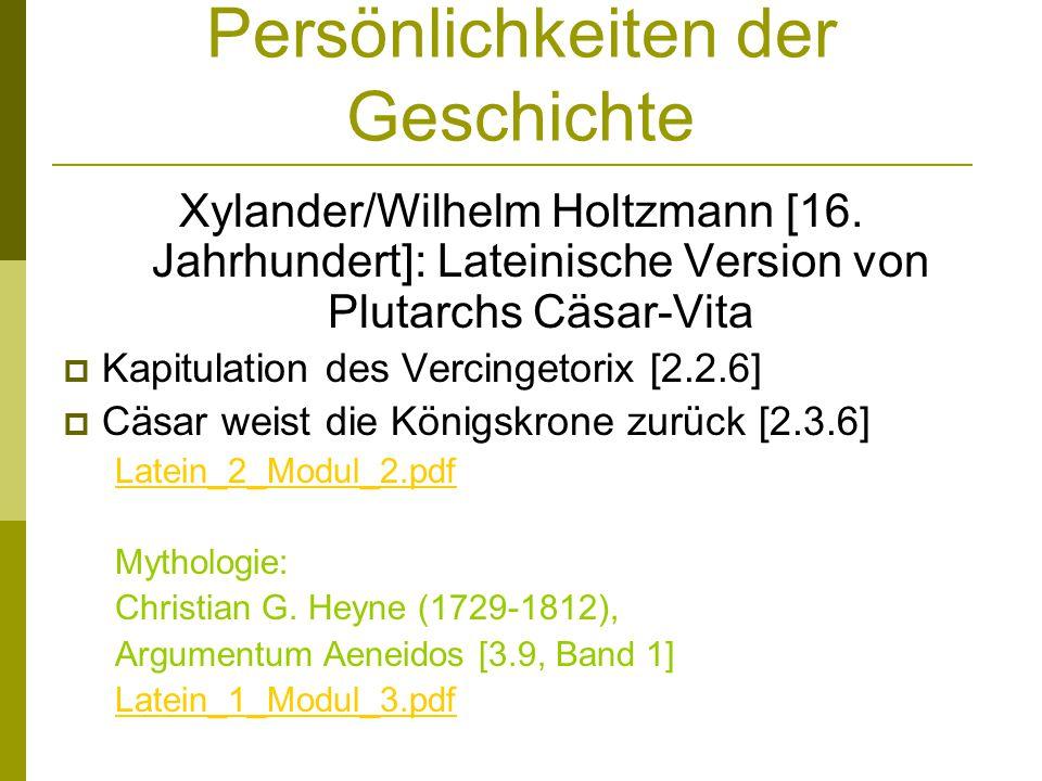 Persönlichkeiten der Geschichte Xylander/Wilhelm Holtzmann [16. Jahrhundert]: Lateinische Version von Plutarchs Cäsar-Vita Kapitulation des Vercingeto