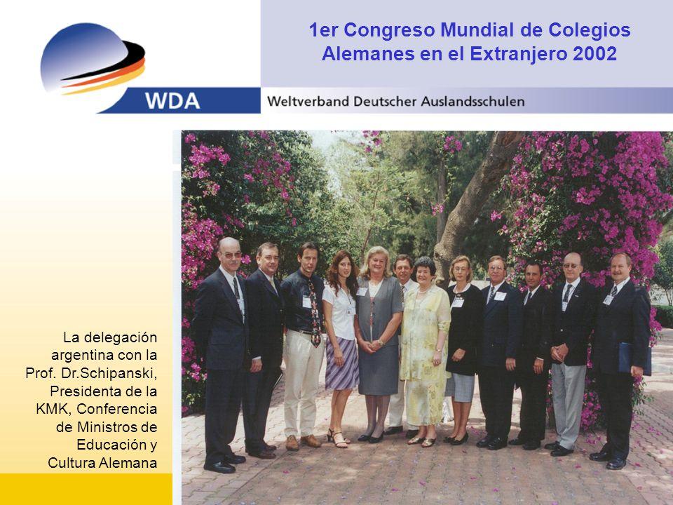1er Congreso Mundial de Colegios Alemanes en el Extranjero 2002 La delegación argentina con la Prof.