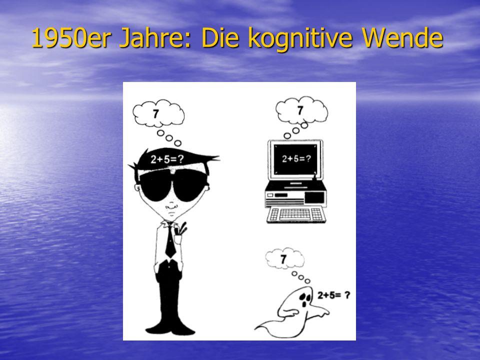 1950er Jahre: Die kognitive Wende