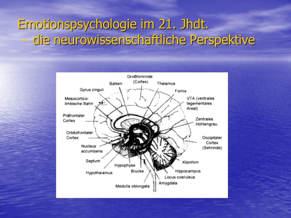 Emotionspsychologie im 21. Jhdt. die neurowissenschaftliche Perspektive Emotionspsychologie im 21. Jhdt. – die neurowissenschaftliche Perspektive
