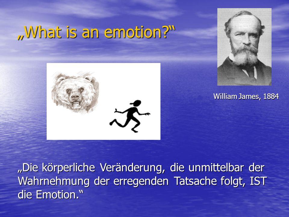 Evolutionäre Emotionsforschung Charles Darwin (1809-1882) Emotionen als Mittel zum Überleben im Laufe der Stammes- geschichte Emotionen als Mittel zum Überleben im Laufe der Stammes- geschichte Der Ausdruck der Gemütsbewegungen beim Menschen und bei den Tieren (1872) Der Ausdruck der Gemütsbewegungen beim Menschen und bei den Tieren (1872)