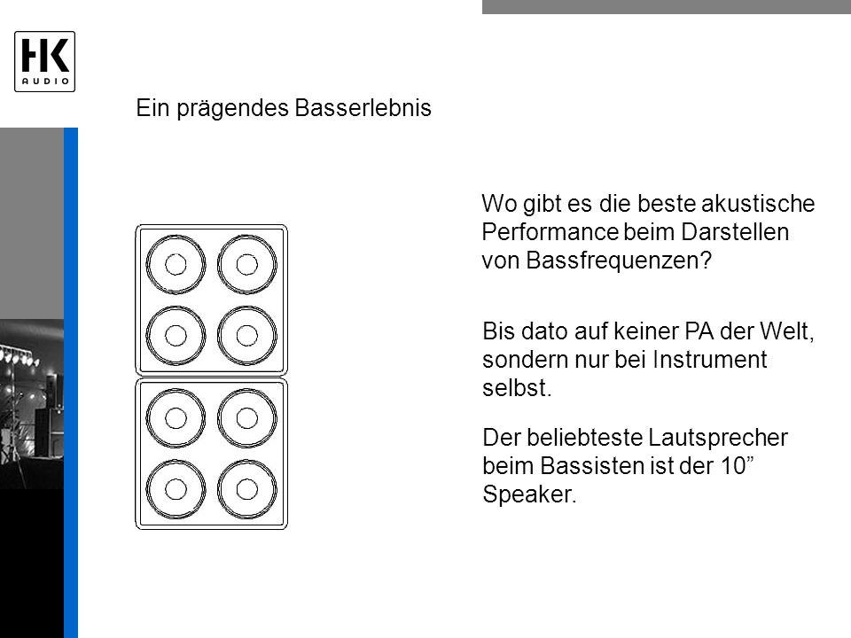 Ein prägendes Basserlebnis Wo gibt es die beste akustische Performance beim Darstellen von Bassfrequenzen.
