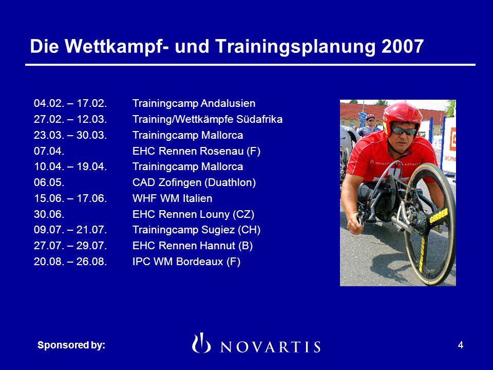 Sponsored by:3 Die Leistungsziele Das Traumziel: Titelverteidiung Die optimistische Zielsetzung: WM Medaille