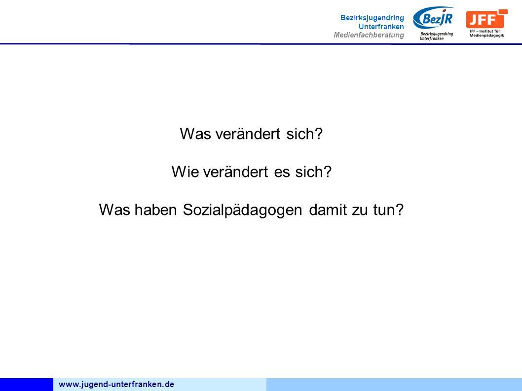 www.jugend-unterfranken.de Bezirksjugendring Unterfranken Medienfachberatung Was verändert sich.